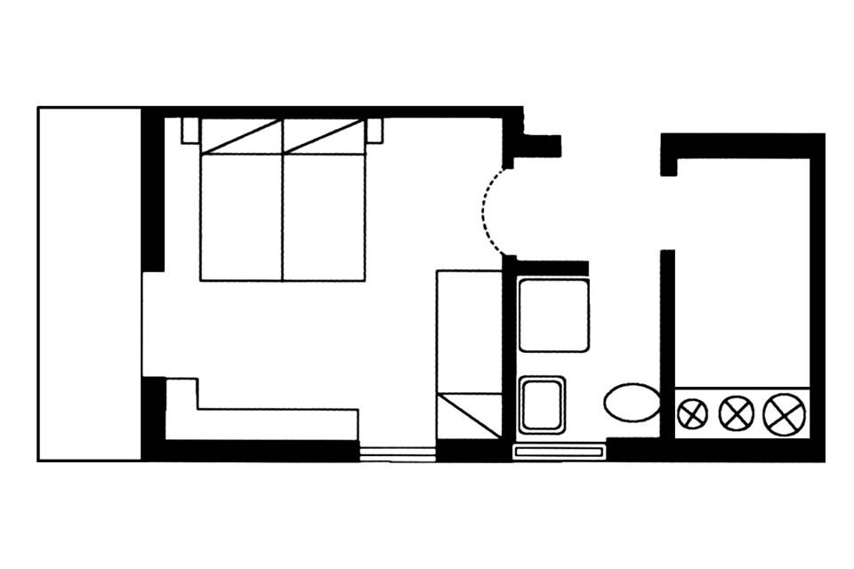 Apartment type F1