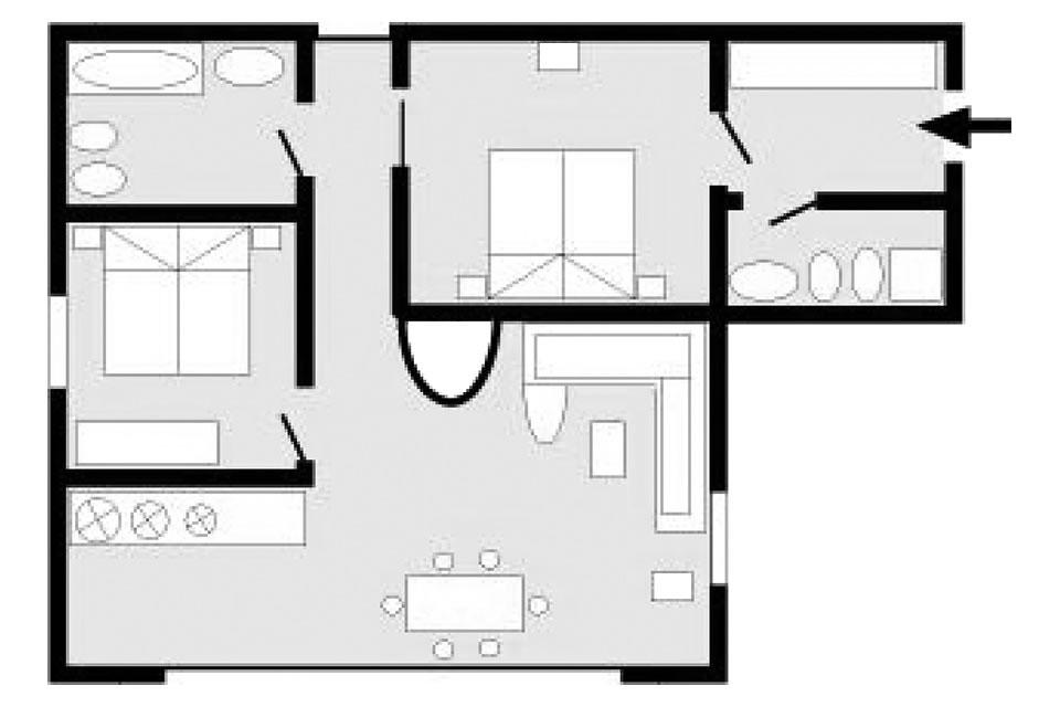 Apartment type L (deluxe)