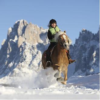 Escursioni con le slitte trainate da cavalli e equitazione invernale